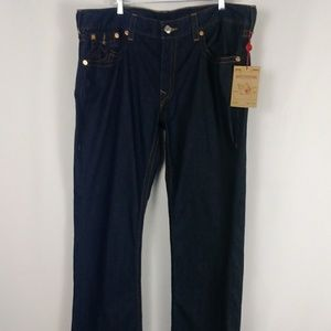 NWT True Religion straight jeans men size 40 X 34